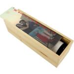 Botella de vinoUn regalo original para los amantes del vino: botella de rioja + caja personalizada.