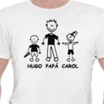 Camiseta personalizadaUna camiseta para que papá lleve siempre a los suyos en el corazón.