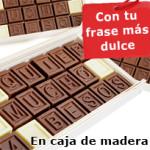 ChocomensajeUn mensaje escrito en chocolate siempre gusta. Tu papá sentirá que sus hijos son muy dulces.