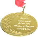 Medalla personalizadaSi tu padre es el mejor del mundo, se merece una medalla que lo certifique.